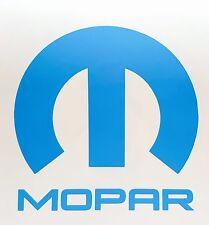 "Mopar Vinyl Decal Sticker Dodge Jeep, 5""X5"" DIE CUT.LIGHT BLUE"