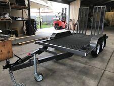 Tandem plant trailer  bobcat  Excavator  trailer 3.5 ton gvm
