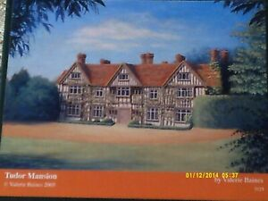 V.RARE EARLY WENTWORTH 250 ' TUDOR MANSION ' WATERCOLOUR, VALERIE BAINES, 2005