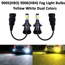 Car 9005 9006 LED Fog Light  HB4 HB3  Bulb Yellow 3000K White 6000K Dual Colors