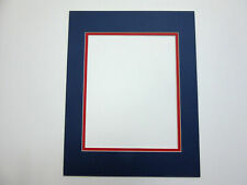 Picture Framing Mat 11x14 for 8.5x11 photo of document Blue with red liner