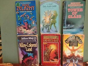 Vintage science fiction book lot 6 Books All Paperback