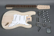 DIY 12 STRING STRAT STYLE PREMIUM ELECTRIC GUITAR LUTHIER BUILDER KIT
