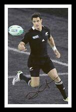DAN CARTER - NEW ZEALAND ALL BLACKS AUTOGRAPHED SIGNED & FRAMED PP POSTER PHOTO