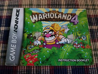 Warioland 4 - Authentic - Nintendo Game Boy Advance - GBA - Manual Only!