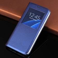 Libro Visor Ventana Funda De Piel Cartera For Samsung Galaxy S6 S7 Edge Note 7