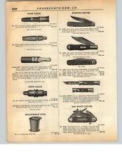 1928 PAPER AD Neft Folding Safety Fishing Hunting Knife Frankfurth Boy Scout