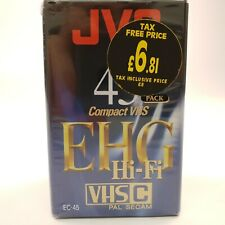 JVC Compact VHS EC-45 | 2 PACK | BRAND NEW SEALED