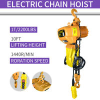 TOP Super 2200 Electric Chain Hoist, 2200 lb., 10ft Lift Electric Crane Hoist