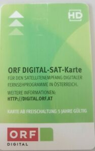 ORF DIGITAL-SAT-Karte, abgelaufen