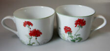 Block Geranium (SET OF 2 CUPS)    (no saucers)