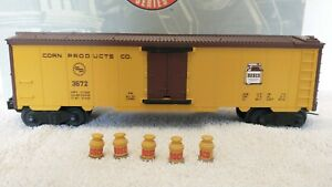 Lionel Bosco Chocolate Operating Milk Car w 5 cans Archive #3672 Corn Products