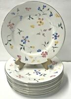 Totally Today China Salad Plate Rare Floral Pattern Set of 8