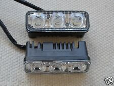 2 X 3 LED DRL Tagfahrleuchte Auto Nebel Tag Fahren Universal Weiß Leuchte 12V
