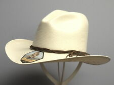 "Stetson ""gus"" 10x Straw Western Hat With a Gus Crown Ssguss-nat USA Made 7 5/8 Natural"