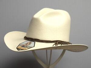 STETSON GUS 10X SHANTUNG STRAW COWBOY WESTERN HAT