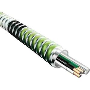 Green 12/3 x 250' Health Care Facility Aluminum MC Stat Cable  5805-42-00 *