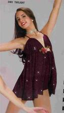 Dance Costume Lyrical  dress tap jazz skate  art stone twilight