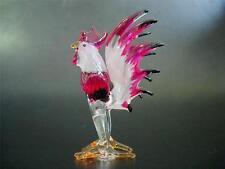 Glass COCKEREL CHICKEN ROOSTER HEN Farm Animal, Painted Glass Ornament, Bird