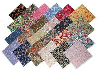"96 5"" Quilting Fabric Squares/ Among the Flowers, Florals! 48 DIFFERENT -2 OF EA"