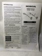 Honda HHT25S  HHT35S Owner's Manual
