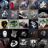 Vintage Mens Women Stainless Steel Rock Punk Ring Band Viking Rings Jewelry Lot