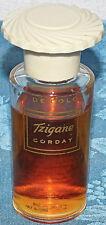 Vintage Corday Tzigane EAU DE COLOGNE SUPER RARE 1 OZ BOTTLE 80% FULL 30'S 40'S?