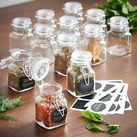 4pc Glass Mini Mason Jars Canisters Kitchen Storage Wedding Decoration Supplies