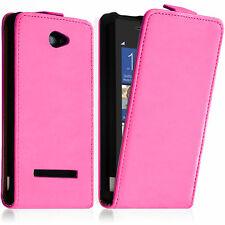 Housse Coque Etui Pochette PU Vrai Rabat Cuir ROSE Pour HTC Windows Phone 8S
