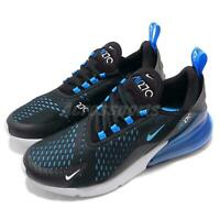 Nike Air Max 270 Liquid Metal Black Blue Fury Men Running Shoes AH8050-019