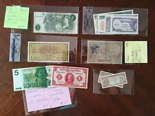 ENGLAND, EGYPT, NETHERLANDS, HONG KONG, FRANCE  20th Century Banknotes Lot of 14