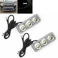 Euro 3 LED Daytime Running Light DRL Daylight Kit Fog Lamp Day Time Lights;