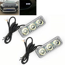 2x 3 LED Voiture Auto Feux de jour DRL circulation diurne Lumiere Lamp Blanc 12V