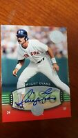 2004 DWIGHT EVANS  Auto /50  SP #244 UD Timeless Teams VERY Short Print  !
