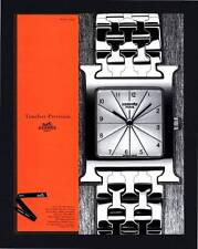 "PRINT AD 1998 HERMES PARIS ""H-OUR"" WATCH"