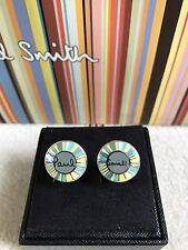 Paul Smith Men's Gents Authentic  Logo Cufflinks - Rare BNIB