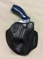 """Leather Holster- S&W J Frame 2"""" Revolvers, Model 640, RUGER SP101 2""""(# 6200 BLK)"""