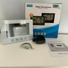 """NEW VIDEO DOORPHONE White 7"""" LCD Colour Monitor Hands Free Boxed Door Release"""