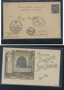 Dominican  Republic post card to Germany 1905 nice cancels