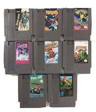 Lot Of 8 Vintage Nes Game Cartridges Metal Gear Battletoads More