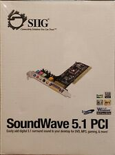 NEW SIIG SoundWave 5.1 PCI Sound Card, Digital 5.1 Surround, RoHs, IC510012-S2