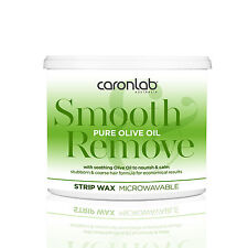 Caron Caronlab Smooth & Remove Pure OLIVE Oil MICROWAVEABLE STRIP WAX - 400g TUB