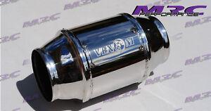 """MRC VENOM weld in high Flow stainless 3"""" 76mm 400 cell Cat Catalytic Converter"""
