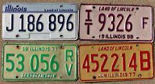 Group of four IL Illinois plates