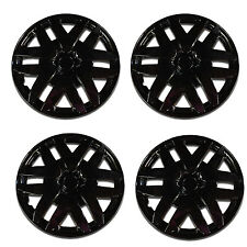 "4 Pcs Ice Black 14"" Hub Caps Wheel Cover Set  ABS Wheel Skins -997 Universal"