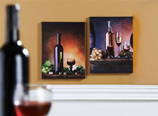 Giftcraft LED Lighted Wine Themed Canvas Prints, Set of Two