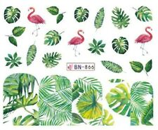 Nail Art Decals Transfers Stickers Pink Flamingos (BN866)