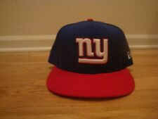 New York Giants New Era hat cap 7 1/2 fitted sideline Blue Red NFL Beckham NY