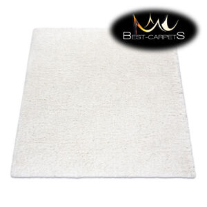 Amazing Modern Rug SUPREME Shaggy 5cm, square, single-colour, WHITE Best Quality