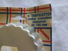 lot de 6 moule à tartelettes tarte en alu fabrication gobel sous blister vintage